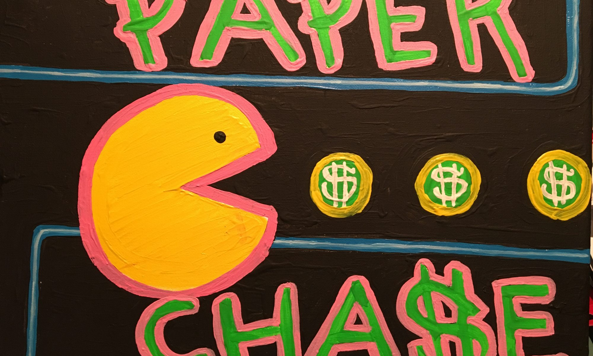 Paper chase 40 x30 cm.